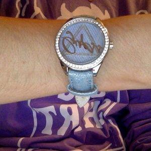 Light Blue Denim/Silver Glitter Guess Watch